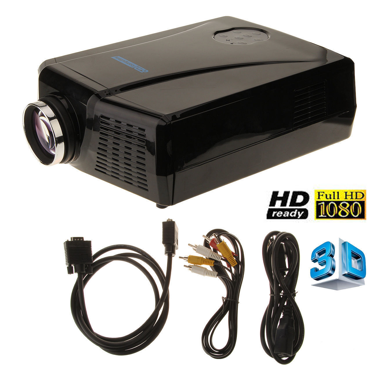 3000 lumens hd home cinema theater multimedia led lcd for Hdmi projector